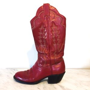 Vintage Sanders Red Leather Boots